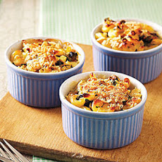 Individual Spinach Mac and Cheese Gratins