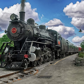 152 at the Station  by Andrew Butcher - Transportation Trains ( old, station, ventage, steam train, train )