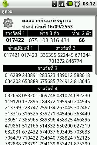 thai-lottery-ด-หวย for android screenshot