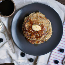 Whole Wheat Almond-Poppy Seed pancakes