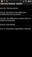Screenshot of Code Civil Français GRATUIT