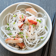 Daikon Radish Slaw with Crab and Black Sesame Seeds