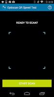 Screenshot of Optiscan QR Speed Test