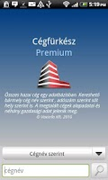 Screenshot of Cégfürkész Premium