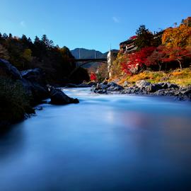 Mitake River by Nyoman Sundra - Landscapes Travel ( japan, autumn, travel, mitake, river )