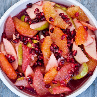 Winter Fruit Salad with Pomegranates