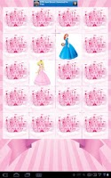 Screenshot of Free Princess Memory Game