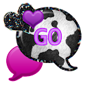 GO SMS - Purple Cow Hearts icon