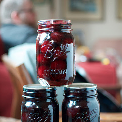 Pickled Rosemary Cherries