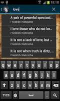 Screenshot of Friedrich Nietzsche Quotes