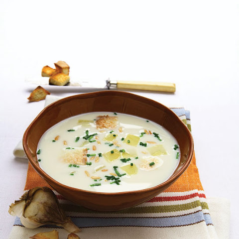 Traditional Czech Garlic Soup