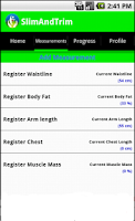 Screenshot of Calories Counter Free