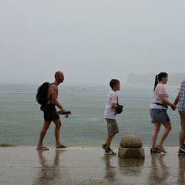 Rainy day at sea by Branka Radmanić - People Street & Candids