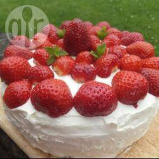 Summery Strawberry And Cream Birthday Cake