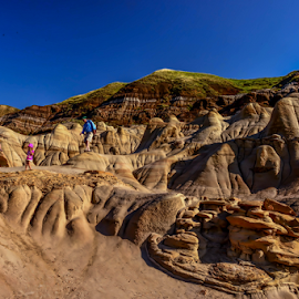 Hodoos-Sands Formations by Joseph Law - Landscapes Caves & Formations ( in drumheller, alberta, dinosours city, hodoos, sand formation )