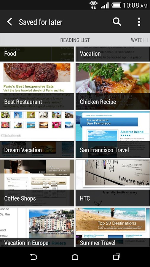 HTC Internet Screenshot 2
