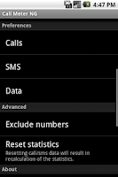 Screenshot of Call Meter NG