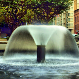 San Francisco Fountain by Matt Dittsworth - City,  Street & Park  Fountains ( water, park, california, fountain, active, san francisco )
