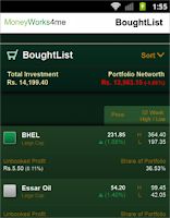 Screenshot of My Stock Genie - Indian Stocks