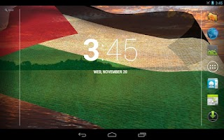 Screenshot of 3D Palestine Flag LWP