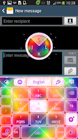 Screenshot of Keyboard Color Glitter Theme