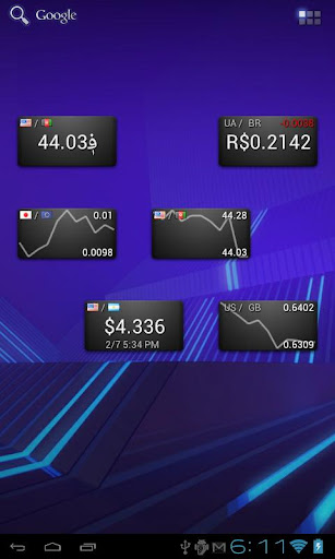 Currency Rate Widget GT