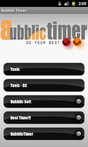 Bubblic Test Timer