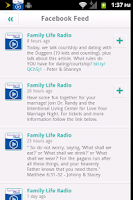 Screenshot of Family Life Radio