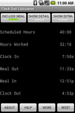 Clock Out Calculator