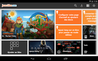 Screenshot of Jeuxvideo.com tablette
