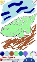 Screenshot of Kids Reptiles Coloring Game