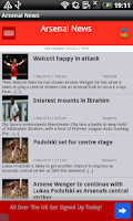 Screenshot of Arsenal News