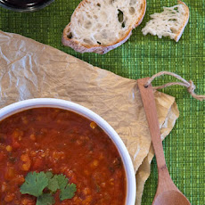 Spiced Tomato Soup with Red Lentils