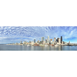 Cityscape by Kasey Chesnut - Instagram & Mobile iPhone ( seattle skyline cityscape )
