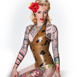 Ceri - pinup by Terry Mendoza - People Body Art/Tattoos ( person, people, tattoo )