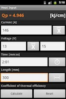 Screenshot of Welding Calc beta