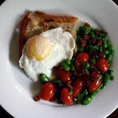 Dinner Tonight: Fava Bean Salad with Toast and Poached Egg