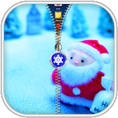 Santa Claus Zipper Lock APK for Bluestacks