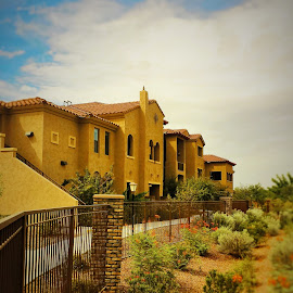Arizona Summerscape by Christina Semerad - Buildings & Architecture Other Exteriors ( desert, exterior, summer, architecture, stucco, apartments )