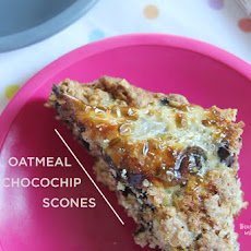 Oatmeal Chocolate Chip Scones #SundaySupper