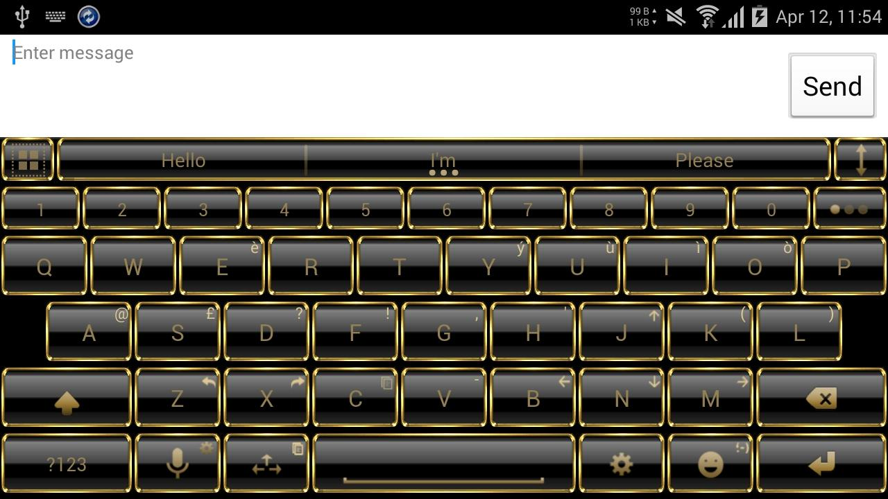 Theme for A.I.type Frame Gold Screenshot 6
