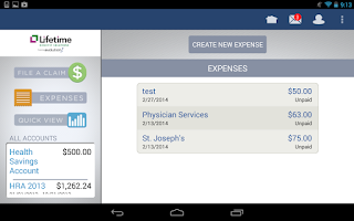 Screenshot of LBS Health Spending App