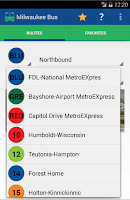 Screenshot of Milwaukee Bus