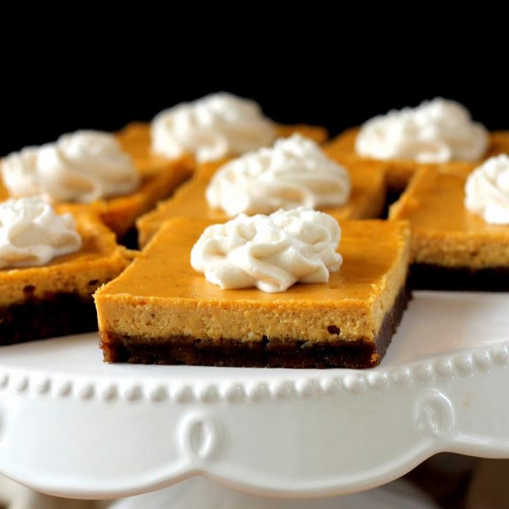 Gingersnap Pumpkin Cheesecake Bars Recipe | Yummly