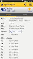 Screenshot of Česká pošta