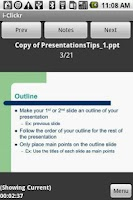 Screenshot of i-Clickr PowerPoint Remote