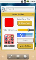 Screenshot of Iphone Style Color Folder