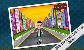 Screenshot of Crazy Drunk Man: Running Game