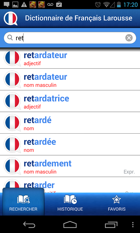 French Larousse dictionary Screenshot 1