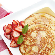 Lemon Soufflé Pancakes with Strawberries